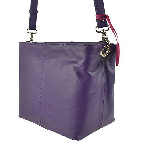 Mala Leather, Borsa a tracolla donna Viola viola viola