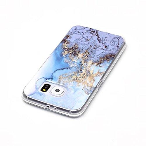 Fubaobao, custodia con design marmo per Huawei P8Lite, materiale poliuretano termoplastico con protezione ultrasottile su tutto il perimetro, verde chiaro F6