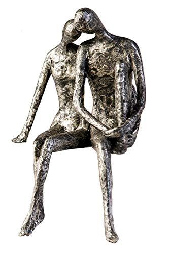 Casablanca Design Sculpture couple assis aspect argent...