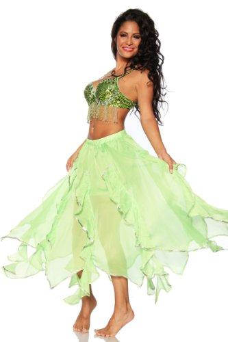 Bauchtanz Outfit BH und Rock orientalisches Tanz Kostüm mit Pailletten (Tanz Kostüm Bhs)