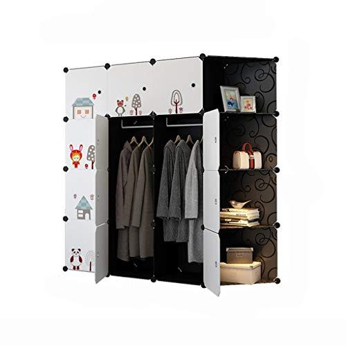Kunststoff Montage Harz Kleiderschrank Moderne einfache Kombination Kleiderschrank Schlafzimmer mit Doppelbett Lagerung PC Harz Material einfache Garderobe (Color : White) (White Breeze Kleid)