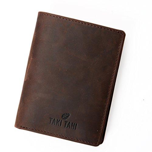 Taki Tahi Geldbörse & Kartenetui Echtes Leder NFC-Schutz Für EC-Karten & Kreditkarten