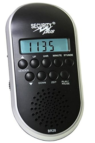 Security Plus Fahrrad Radio BR 28, Schwarz-Silber, 14001101 by Security Plus