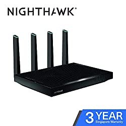 Netgear R7800-100UKS Nighthawk X4S 1733Gaming-Router (800+ Mbps), Quad-Stream-Performance, Gigabit, 11AC, Gaming-Router Fastest (AC5300 Mbps)