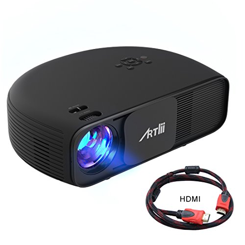 Retroprojecteur Full HD, Artlii Videoprojecteur LED 1280x800 3200 Lumens Supporte 1080p 2xHDMI relier Ordinateur Portable iPhone Smartphone TV Xbox for Movie Jeux