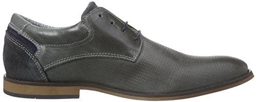 s.Oliver 13200, Oxfords homme Gris - Grau (GREY/NAVY 283)