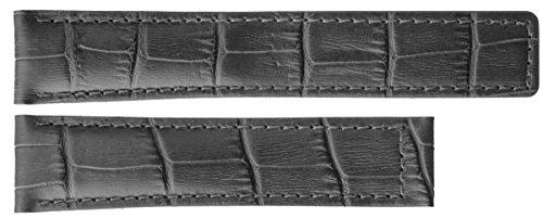 Träger aus 20/18mm Armbanduhr Schwarz/Beige Alligator Stil, mit schwarzer Naht zu für Tag Heuer