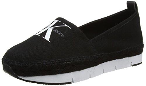 calvin-klein-jeans-damen-genna-canvas-sneakers-schwarz-blk-37-eu