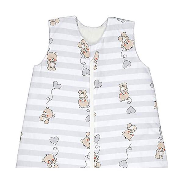 Odenwälder BabyNice Saco de dormir de verano 130 cm, para niños 3-6 años