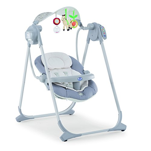 Chicco Polly Hamaca Bebe electrica y plegable plata