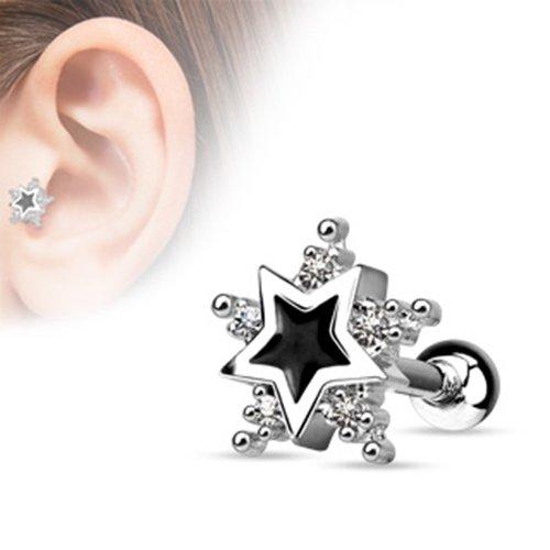 blackama-ciment-cartilage-tragus-helix-barbell-boucles-doreilles-etoile-star-enamel-noir-acier-inoxy