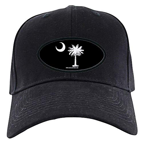 0f8a7f5d SC Palmetto Moon State Flag Black - Baseball Hat, Novelty Black Cap