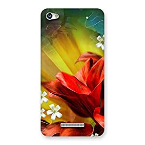 Delighted Beauty Flowers Print Back Case Cover for Micromax Hue 2