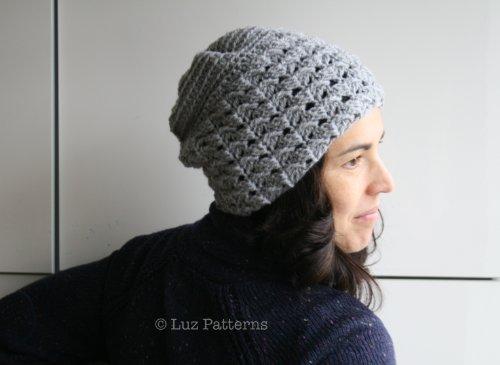 Crochet patterns, crochet hat pattern, women and men slouchy hat pattern (125) (English Edition) (Crochet Hats Womens)