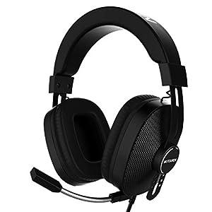 Gaming Headset für PS4, Xbox One and PC Gaming Kopfhörer mit Noise Cancelling-Mikrofon, LED-Licht, Lautstärkeregler, Surround Sound Gaming Headphones für PC/Xbox One/PS4/Nintendo Switch/Wii U