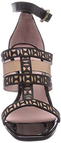 Primafila 791084 Damen Knöchelriemchen Sandalen mit Keilabsatz Schwarz (Black)
