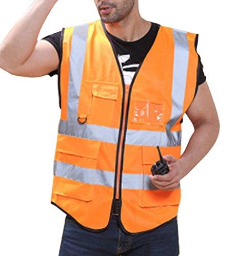 Panegy Gilet di Sicurezza per Lavoratore con Alta Visibilitš€ - Arancione