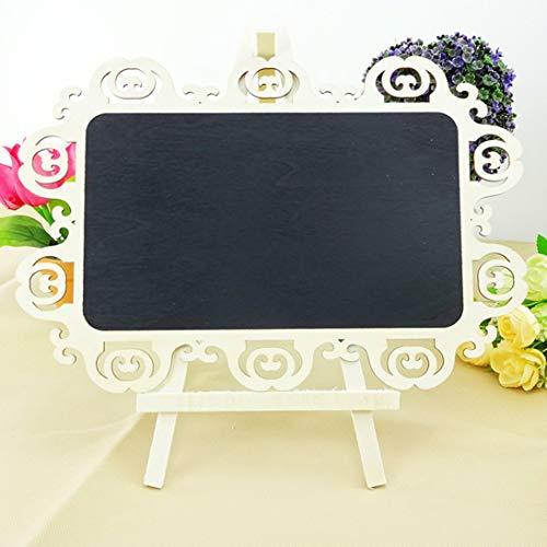 WEIHAN Holztafel Hohlschnitzerei Kreative Kleine Tafel Schreibbrett Kindertafel Mit Ständer