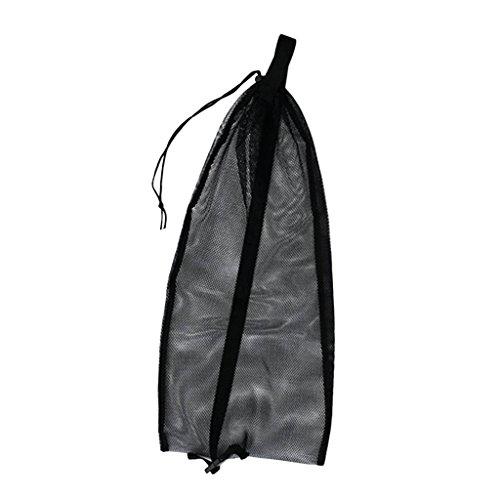 Unbekannt Netzbeutel Mesh Bag Netztasche für Erwachsene Tauchen Schnorcheln Schwimmen, Tragetasche Flossentasche für Schnorchel, Tube, Brille, Maske, Atemregler, Flossen zu aufbewahren - Schwarz