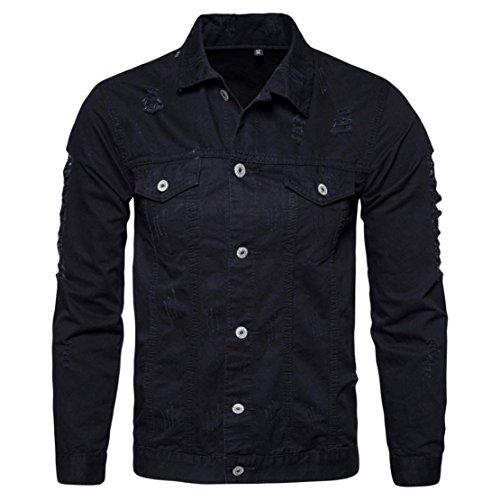 Camicia jeans uomo slim fit vintage camicie manica lunga nuovo