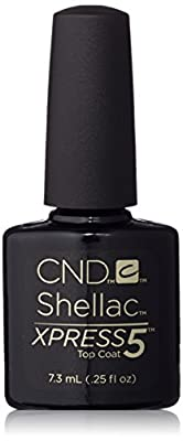 CND Shellac Nail Polish Kit Brand Xpress5 Top Coat 7.3mL
