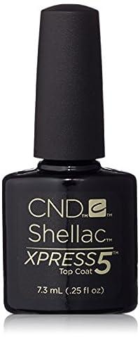 CND Shellac Nail Polish Kit Brand Xpress5 Top Coat 7.3mL