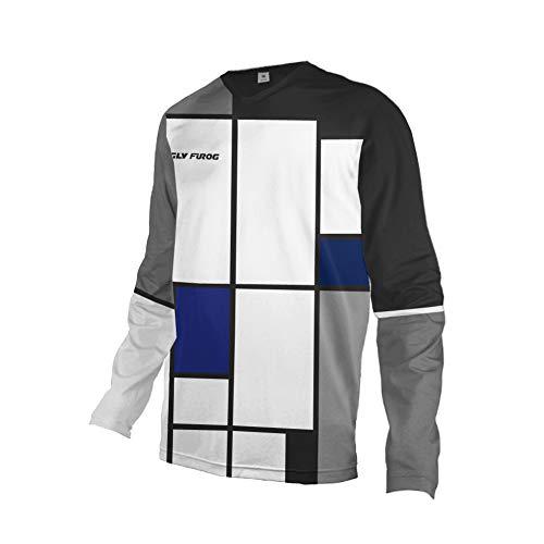 Uglyfrog T-Shirt da Uomo a Maniche Lunghe da Downhill da Corsa all'aperto Motocross Racing Jersey Inverno Vello Caldo Shirt HerDownFZR03