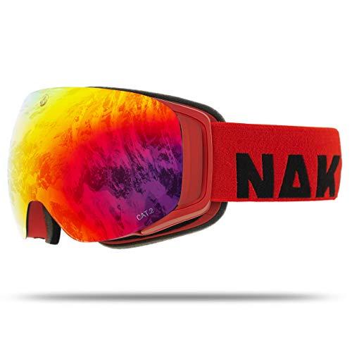 NAKED Optics Force EVO Ruby (Red Lens), inkl. Schlechtwetterglas