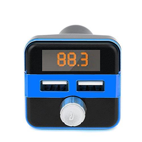 High end BT20B Bluetooth FM LCD Sender Wireless MP3 TF Radio Adapter USB Ladegerät Car Kit (Blau) (Lcd-sender)