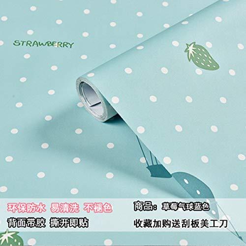 lsaiyy 10m de Papier Peint Autocollant Rose Fille cœur Chambre de rénovation de la Chambre de la Chambre Coeur- 60CMX10M
