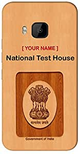 """your Government ID in strange Way with """" Your Name """" Printed on your HTC Desire 820 Mobile back cover with your Dept: National Test House"""