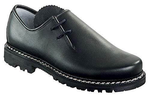 Meindl Haferl-Schuhe Trachtenschuhe 86M Herren Profilsohle schwarz Gr. 43 EU