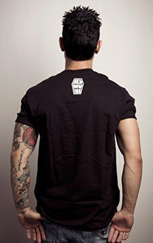 Akumu Ink Patched T - Shirt Tattoo Herz Heart Comic - Unisex Schwarz