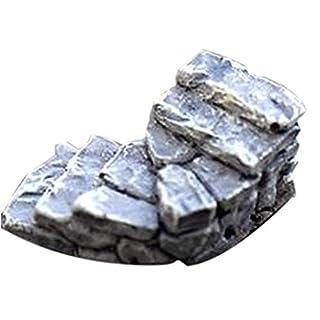 Kongnijiwa Miniature Artificial Stone Steps Straight Curved Bridge Stairs Home Decor Fairy Ornaments Plastic Artwork