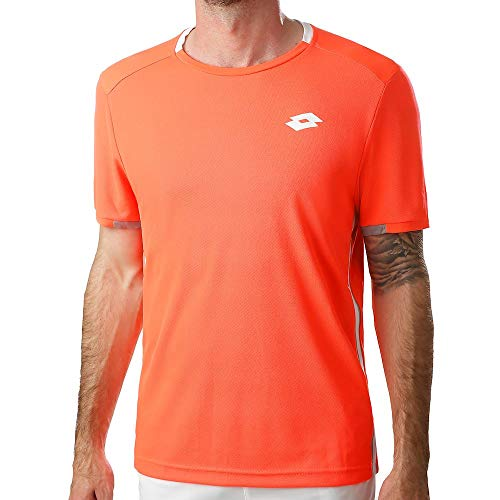 Lotto Tennis Teams Tee Herren Fiery Coral (XL) -