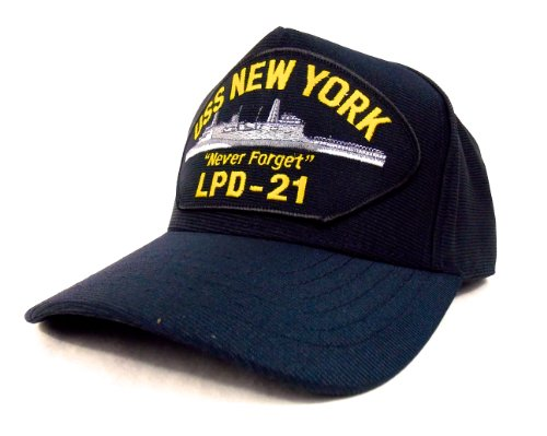 uss-new-york-casquette-brodee-marine-militaire-americain-us-navy-warship-cap-hat-lpd-21-made-in-usa-
