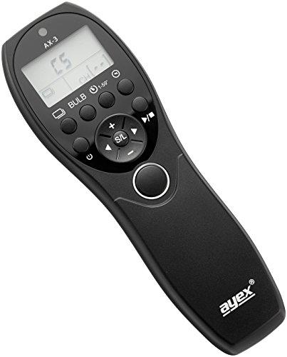 Ayex AX-3 Timer-Fernauslöser DC0 für Nikon D810, D800, D700, D5, D4, D4S, D3 uvm.