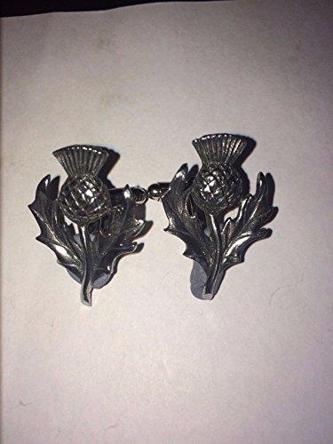 Schottische Distel W35Paar Manschettenknöpfe aus feinem englischen Moderne Zinn geschrieben von uns Geschenke für alle 2016von Derbyshire UK (Schottische Manschettenknöpfe)