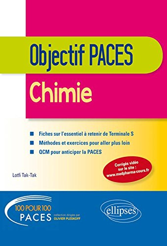100% PACES Chimie Terminale S Objectif PACES