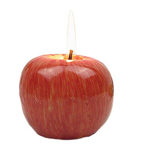 Demarkt Apfel Kerzen Apfel geformte Duftkerzen Dekoration Simulation Apfelkerzen Weihnachtskerzen Halloween Kerzen (7 x 7 x 5,5CM)