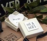 East of India Porzellan Teller mit Mr und Mrs Phraseologie (klein)