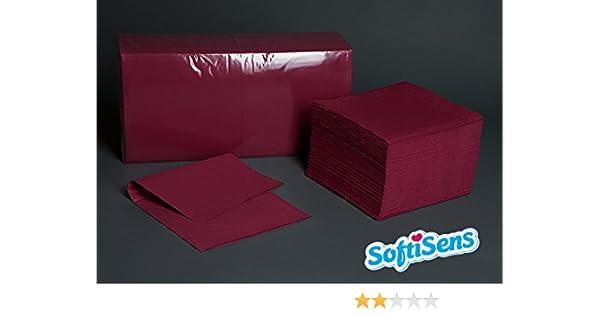 Farbe: rot 2-lagig 2.000 hochwertige Servietten Maße: 33x33 1//4 Falz