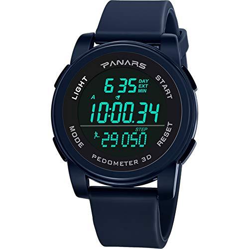 Herren Multifunktionsuhr Mode Wasserdicht Laufen Schrittzähler Herrensport Elektronische Uhr Digitaluhr Mode Herrenuhr Outdoor-Sport
