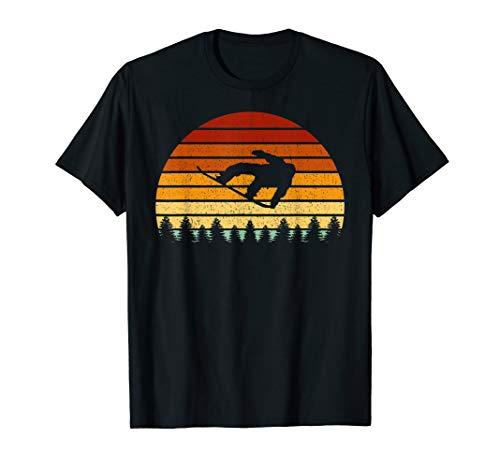 Vintage Sonne Snowboard Geschenk für Snowboarder T-Shirt