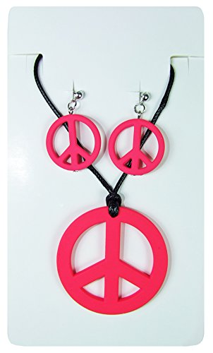 Hippie Peace Schmuck Set 3-tlg. (Hippie Ohrringe)