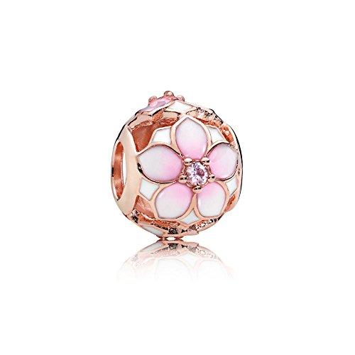 Pandora Charm Magnolie Rosé 782087NBP - Magnolia Glas-anhänger