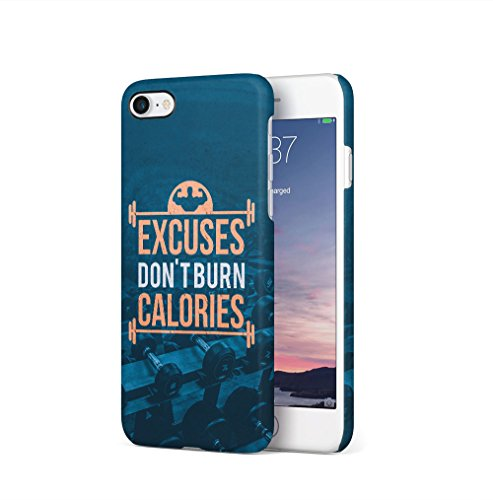 Gym Train Insane Or Remain The Same Apple iPhone 7 / iPhone 8 SnapOn Hard Plastic Phone Protective Custodia Case Cover Burn Calories
