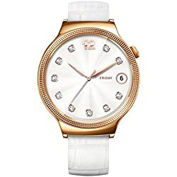 Huawei 55021135Elegant Smart Wrist Watch with Stainless Steel/Leather Bracelet Rose Gold/White