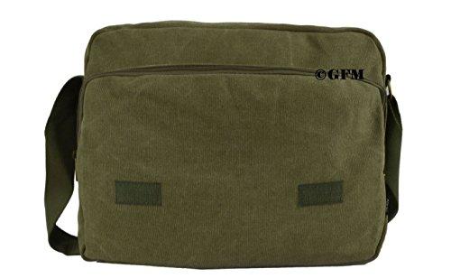 Seconds GFM -  Borsa Messenger classica in tessuto ideale per la scuola, per portare in  ufficio, in viaggio - Stile casual Small Size NEW BATCH - Charcoal Black (#CKL9613-NEW)