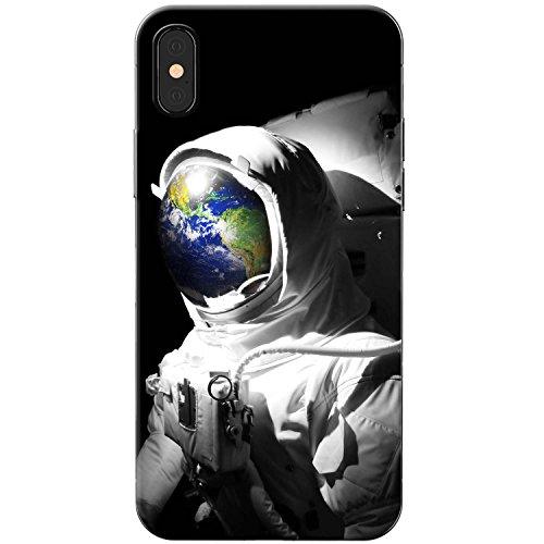 Astronautenanzug & Spiegelbild der Erde Hartschalenhülle Telefonhülle zum Aufstecken für Apple iPhone X (iPhone 10)